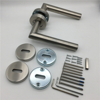 Brushed Nickel SSS Stainless Steel Hollow EN 1906 Grade 3 Fired Door Handles