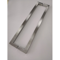 SSS Silver Square Tube Wholesale Commercial Stainless Steel Glass Door Pull Handle