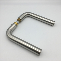 New Design Stainless Steel Tube Door Lever Handle without Rosettes for Glass Lock